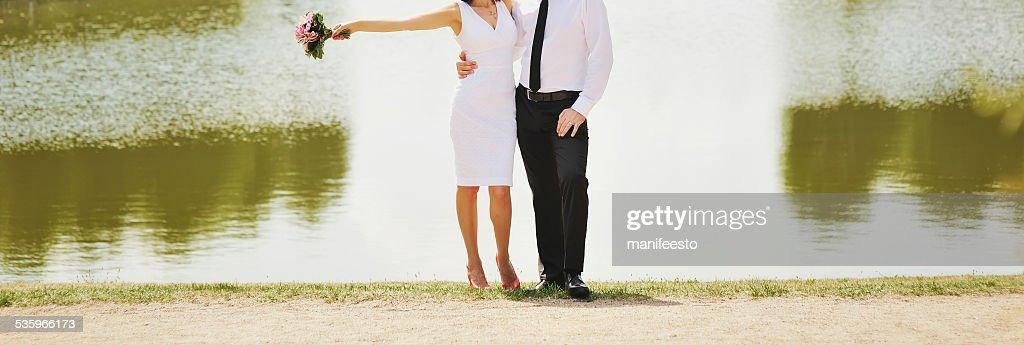 Wedding couple together. : Stock Photo