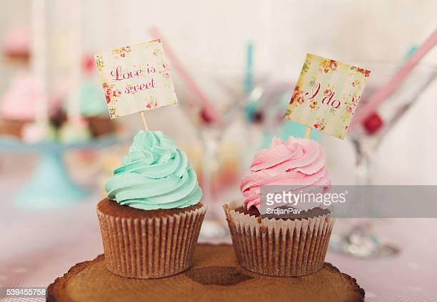 Hochzeit-Cupcakes