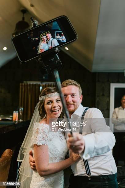 Wedding Day Couple taking Selfie