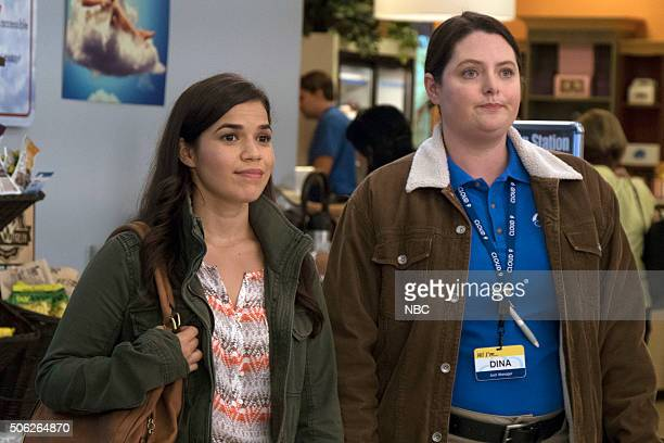 SUPERSTORE 'Wedding Day Sale' Episode 108 Pictured America Ferrera as Amy Lauren Ash as Dina