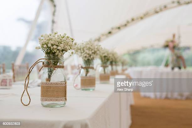 Wedding day table decorations