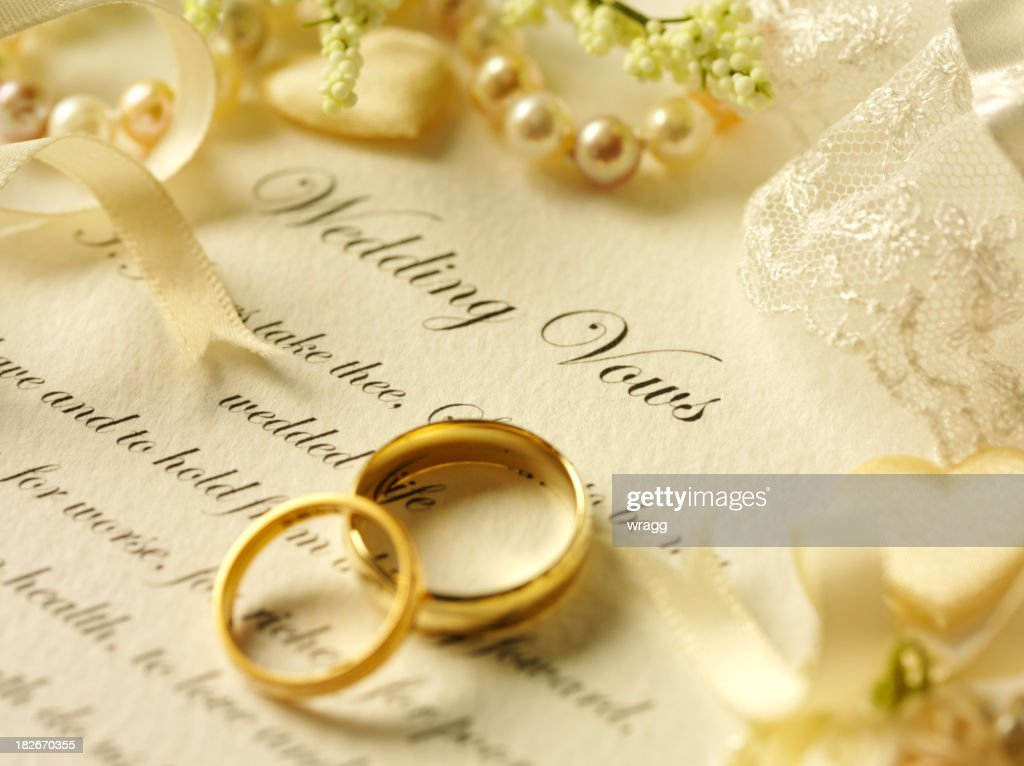 Wedding Day Vows And Rings Stock Photo Getty Images