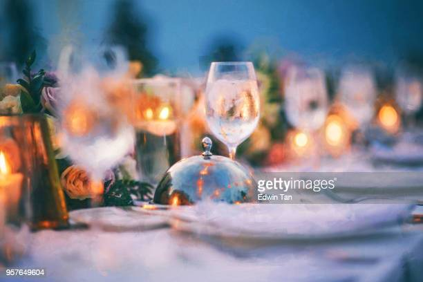 wedding decor details on wedding reception - indochina stock pictures, royalty-free photos & images