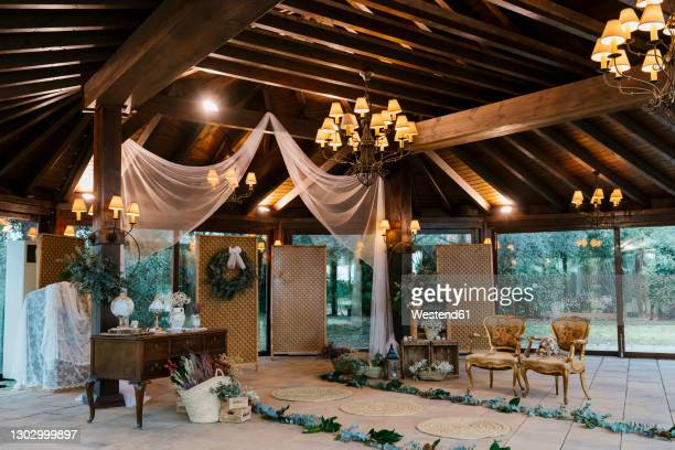 wedding decoration at banquet -  キリスト教 伝来の地  ストックフォトと画像