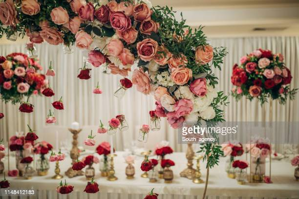 decorazione nuziale - cerimonia foto e immagini stock