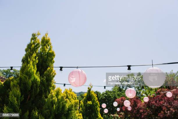 Wedding decoration with paper balloons