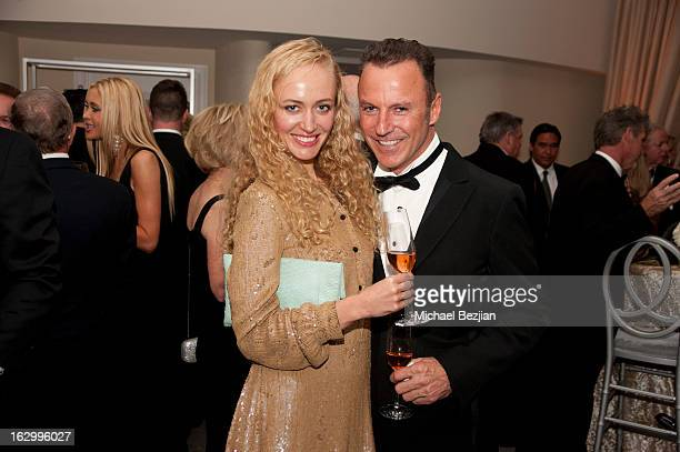 Wedding Designer Colin Cowie and guest attend Fletcher Jones III And Dalene Kurtis Wedding at Beverly Hills Hotel on March 2 2013 in Beverly Hills...