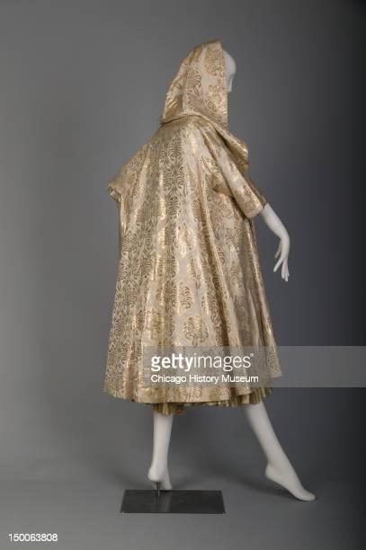 Wedding dress and jacket, 1955 . Silk and metallic brocade, lame by Don Loper Originals.