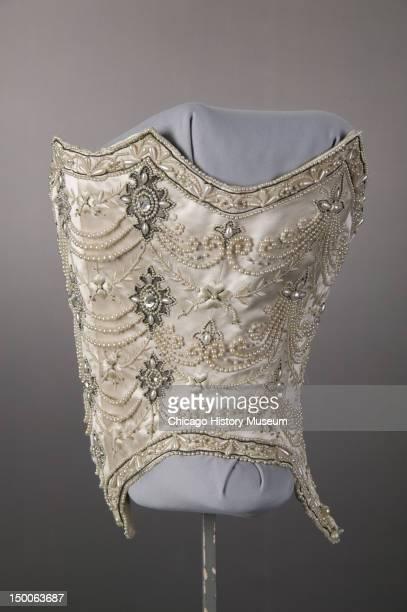 Wedding dress bodice, 1896.
