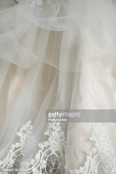 Wedding Dress Lace Chiffon Detail Vertical