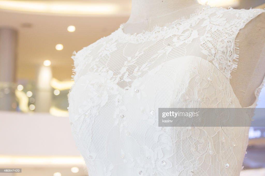 Vestido de casamento na manequim : Foto de stock