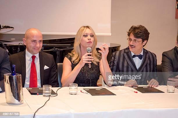 A wedding fashion world press conference by Big Bang production at Villa Diamante Naples with the showgirl Anna Falchi Angelo Vanzanella Director of...