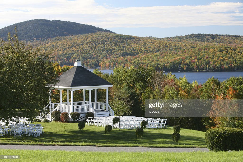 Wedding Gazabo in the fall : Stock Photo