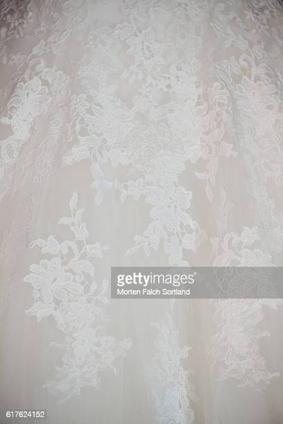 wedding gown lace - lace dress stock pictures, royalty-free photos & images
