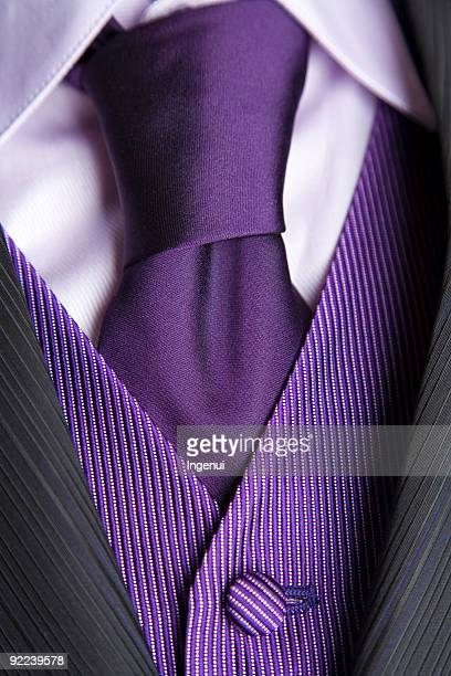 wedding groom detail - purple suit stock pictures, royalty-free photos & images