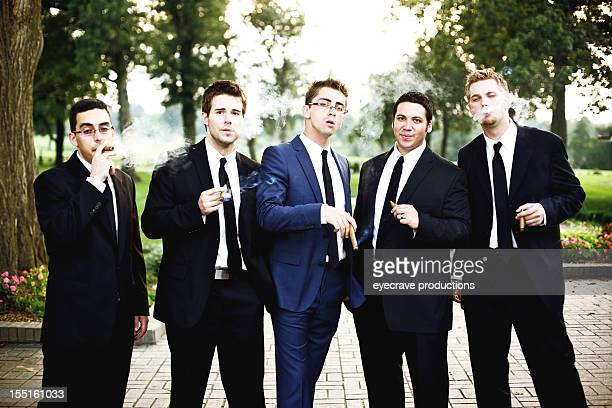 wedding groomsmen celebration vibrant sunset - country club stock pictures, royalty-free photos & images