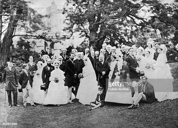 A wedding group of Oxford professors 1864