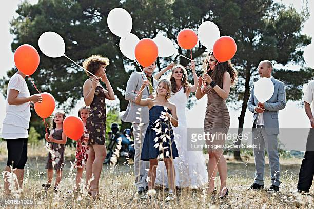 Wedding Guests With Balloons, Croatia, Dalmatia