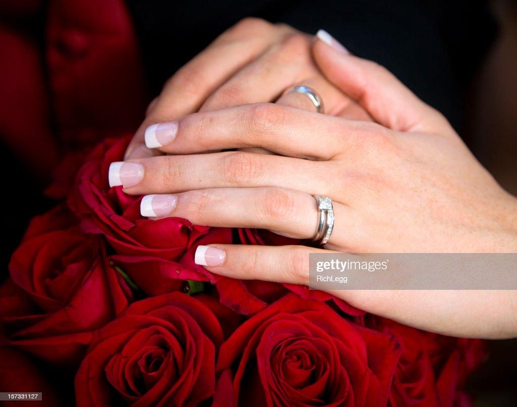 Wedding Hands : Stock Photo
