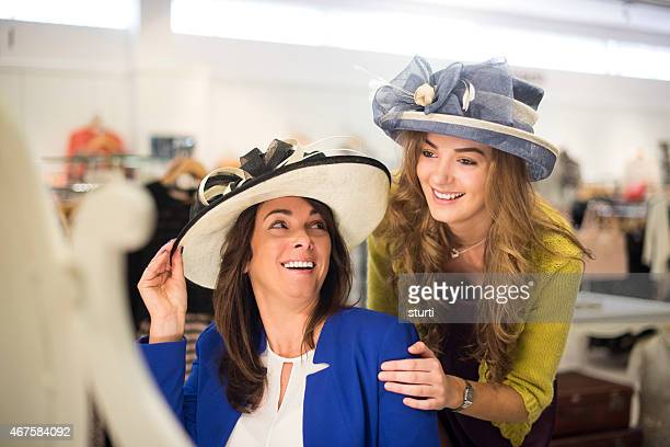 wedding hat shopping