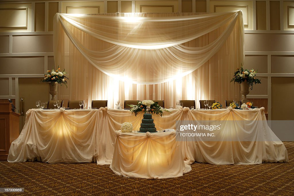 Wedding Head table : Stock Photo