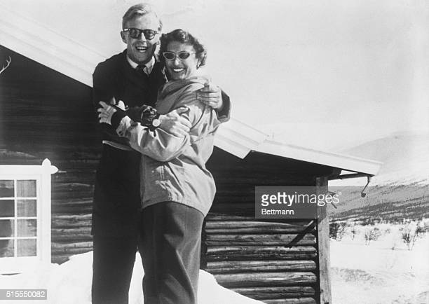 Wedding Imminent: Princess Astrid and her fiance, Johan Martin Ferner, pose for an informal portrait in the Norwegian mountains during the Easter...