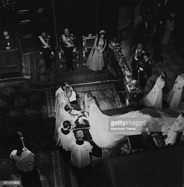 Wedding In Athens Of Princess Sophie Of Greece And Don Juan Carlos Of Spain On May 15Th 1962