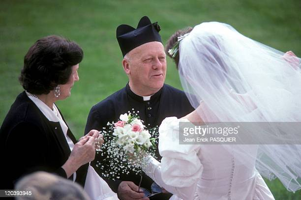 Wedding In France In 1987 Chic wedding in a castle near the rectorya Country Priest Father Quintin Montgomery Wright Scottish originParish priest of...