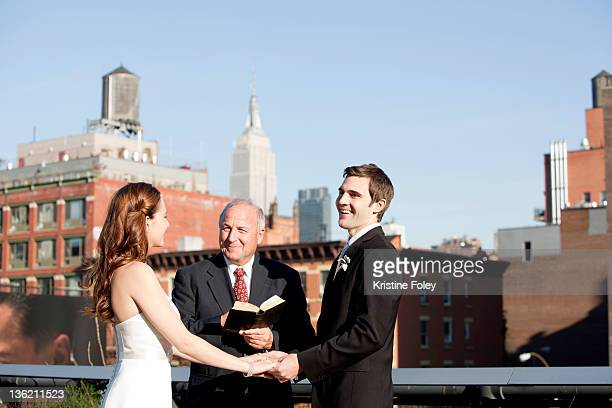 wedding in new york city - religious occupation stock pictures, royalty-free photos & images