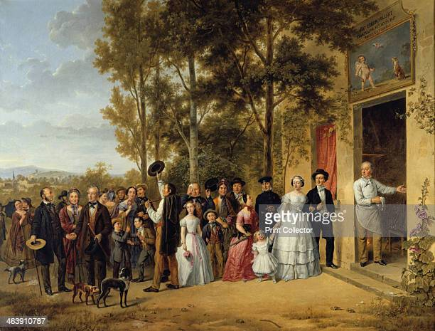 'A Wedding in the 'Coeur Volant' Chapel in Marly about 1850' From the Chateau of Sceaux France