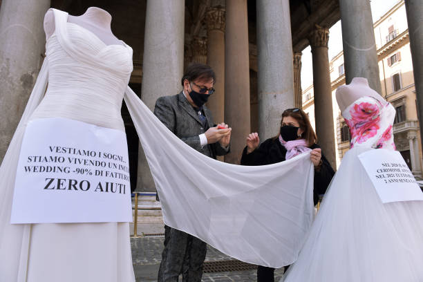 "ITA: ""Together For The Wedding"" Protest In Rome"