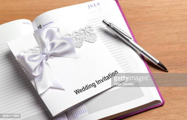 Wedding invitation and diary