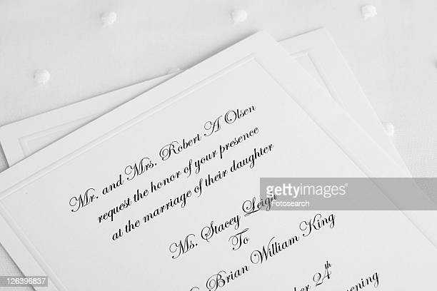 Wedding invitations (close-up)