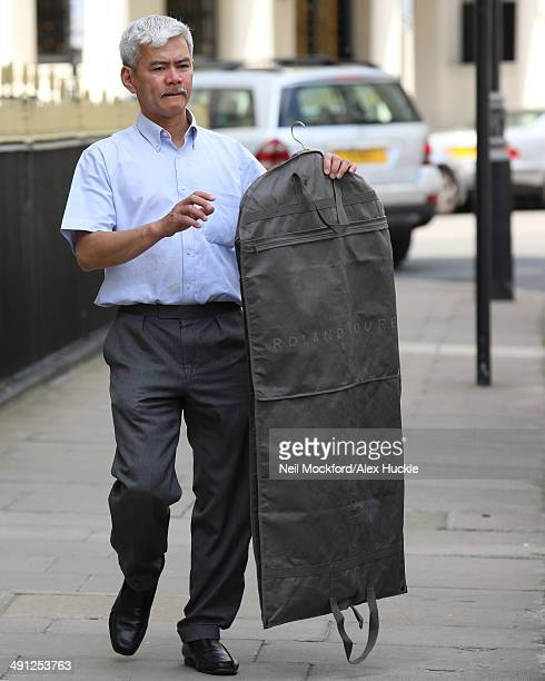 Wedding items being loaded into a car on the day of Poppy Delevingne's Wedding to James Cook on May 16 2014 in London England