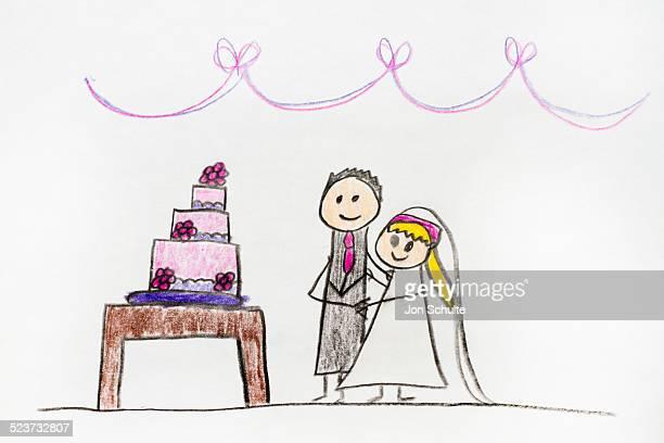Wedding, kids drawing