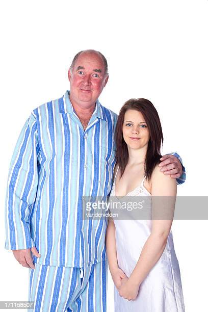 wedding night series: the happy couple - sugar daddy stock photos and pictures