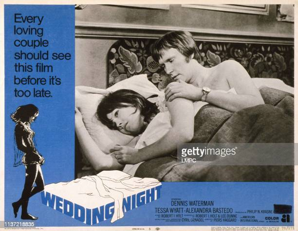 Wedding Night, , US lobbycard, from left: Tessa Wyatt, Dennis Waterman, 1969.