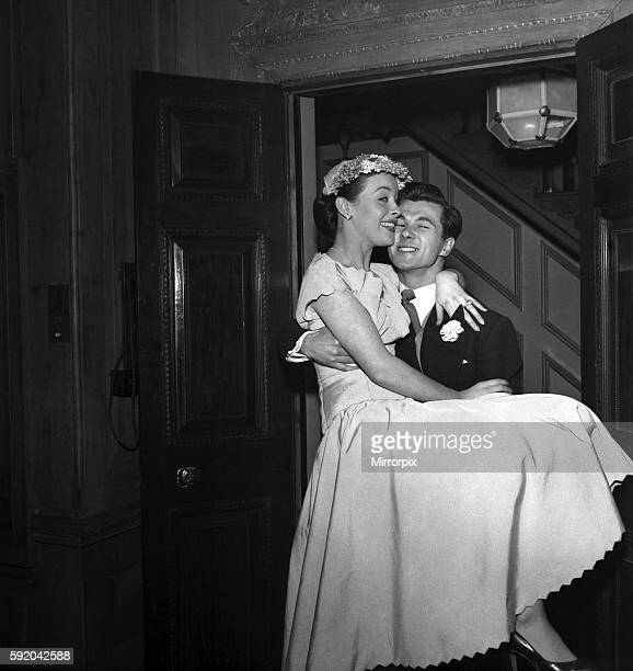 Wedding of actor Bryan Forbes and film actress Constance Smith Katina Noble aged 1 Year who celebrated her birthday at the wedding February 1951...