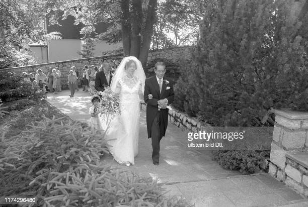 Wedding of actress Greta Chi with Maxwell Lewis on the Burgenstock 1978
