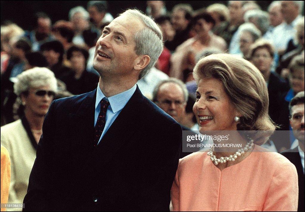 Wedding Of Alois Von Liechtenstein With Sophie In Bayern In Vaduz, Liechtenstein On June 26, 1993. : News Photo