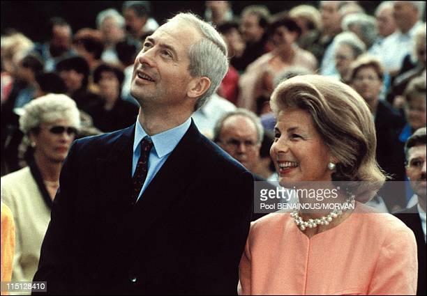 Wedding of Alois Von Liechtenstein with Sophie in Bayern in Vaduz, Liechtenstein on June 26, 1993 - Hans Adam II and Marie.