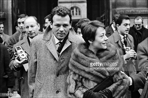 Wedding of Annie GIRARDOT and Renato SALVATORI - Annie Girardot; Renato Salvatori in Italy in January, 1962