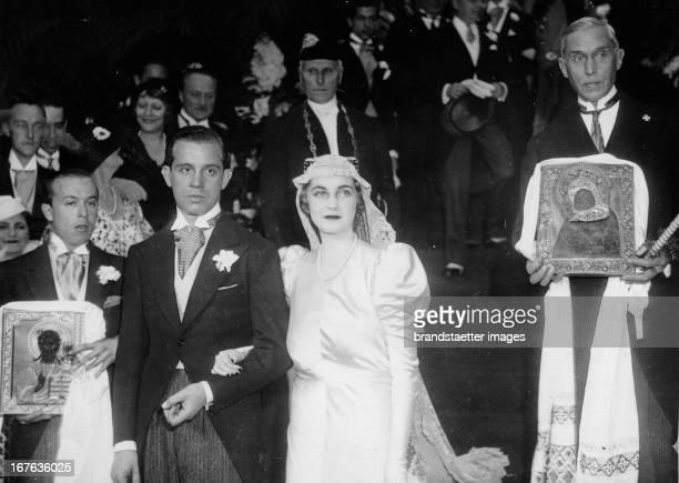 Wedding of Barbara Hutton and Alexis Mdivani in Paris Photograph 1933 Barbara Hutton heiratet den georgischen Prinzen Alexis Mdivani in Paris...