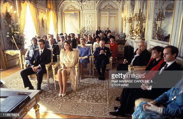 Wedding of Caroline de Monaco and Stefano Casiraghi In Monaco city Monaco On December 29 1983