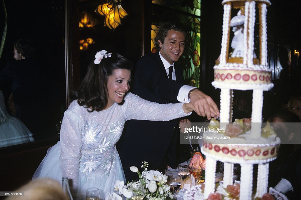 Wedding Of Christina Onassis And Thierry Roussel In Paris 17 Mars 1984