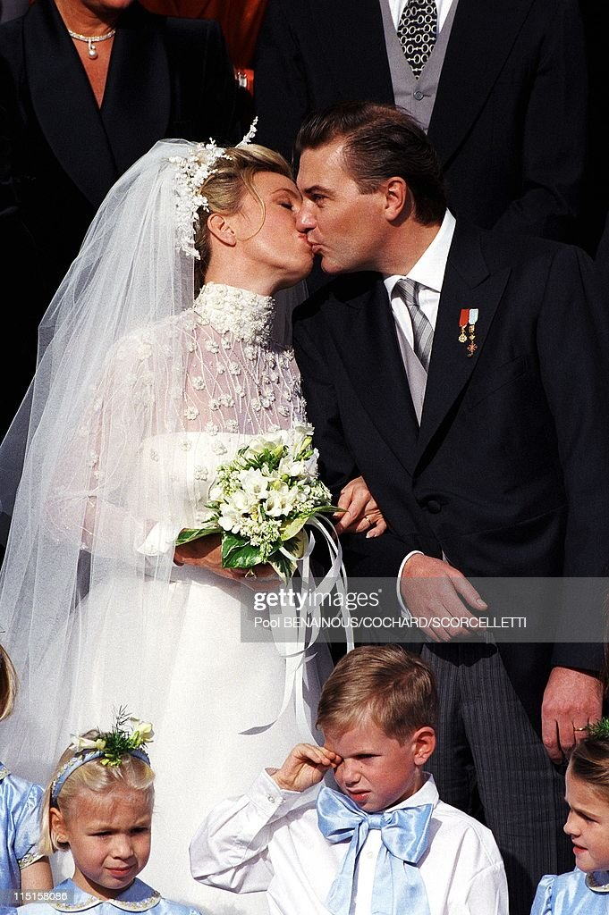 Wedding Of C.Of B.Siciles And C.Crociani In Monaco City, Monaco On October 31, 1998. : News Photo