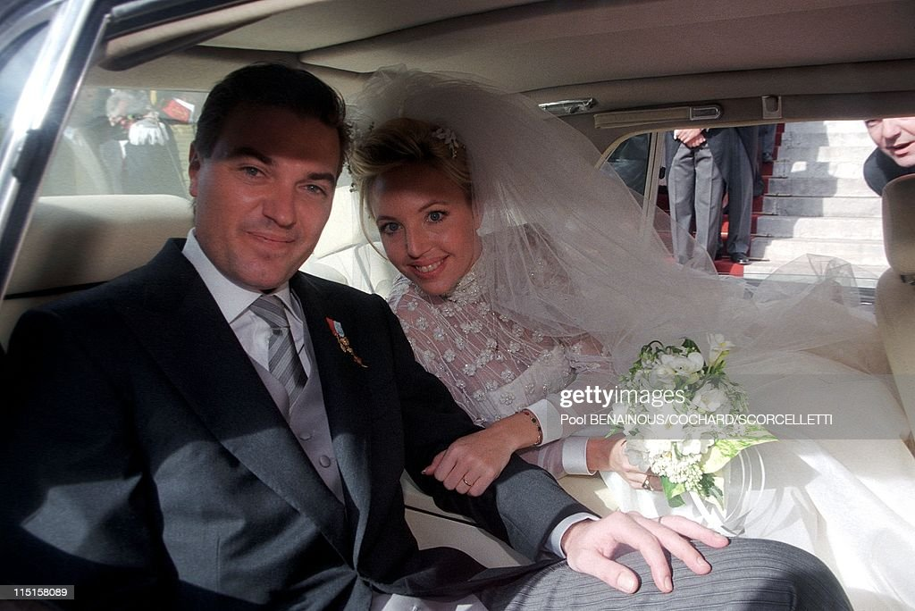 Wedding Of C.Of B.Siciles And C.Crociani In Monaco City, Monaco On October 31, 1998. : News Photo