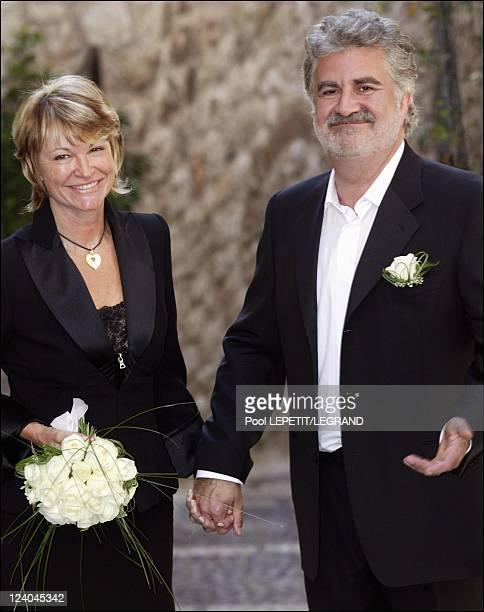 Wedding of comedian Roland Magdane In Saint Paul De Vence, France On September 20, 2003.