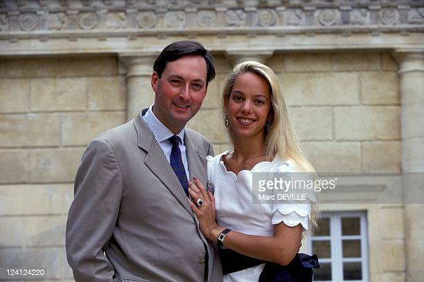 Wedding of Count Jacques of Crussol d'Uzes with Alessandra Passerin d'Entreves In Uzes France On July 10 1993
