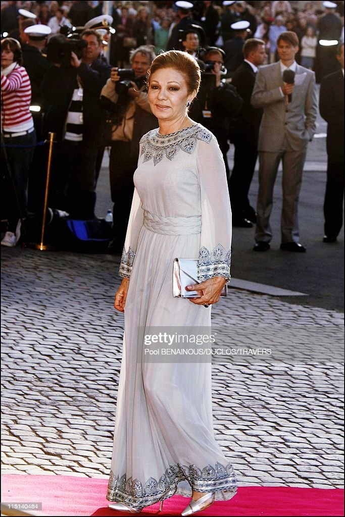 Wedding Of Crown Prince Frederik And Miss Mary Elisabeth Donaldson: Arrivals For The Gala Performance In The Royal Theatre In Copenhagen, Denmark On May 13, 2004. : News Photo